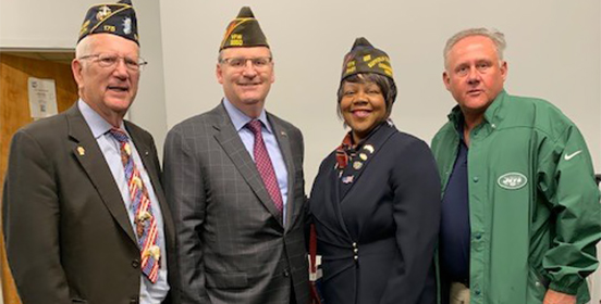 Councilman Cochrane stands with fellow Veterans