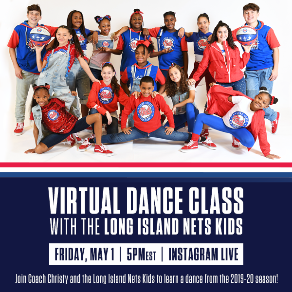 flyer announcing virutal dance class for kids on friday, may 1st at 5pmest on instagram live