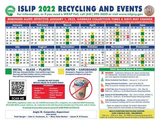WRAP Recycling Calendar