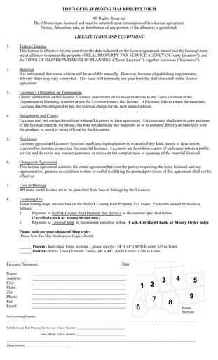 Zoning Map Request Form