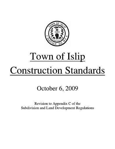 Subdivision and Land Development Regulations – Appendix C (Construction Standards)