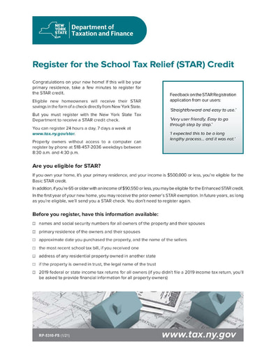 School Tax Relief (STAR) Credit Information