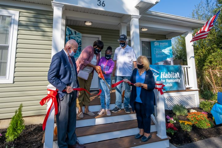Islip Supervisor Joins Habitat for Humanity at Bay Shore Home Dedication