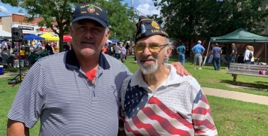 Councilman Cochrane stands for a photo along side veteran Frank Frumento.