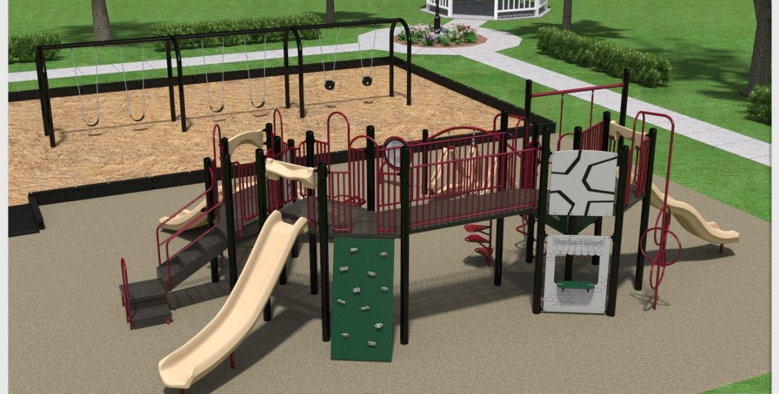 3D rendering of the playground