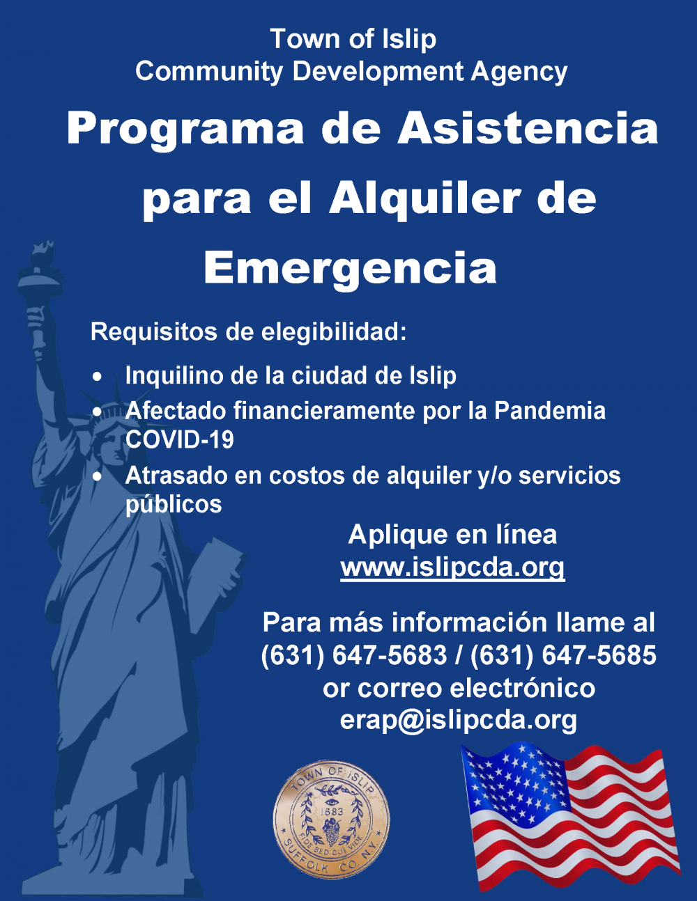 Spanish Flyer for Rental Assistance Program