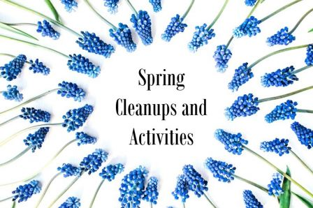 spring cleanups and activities graphic