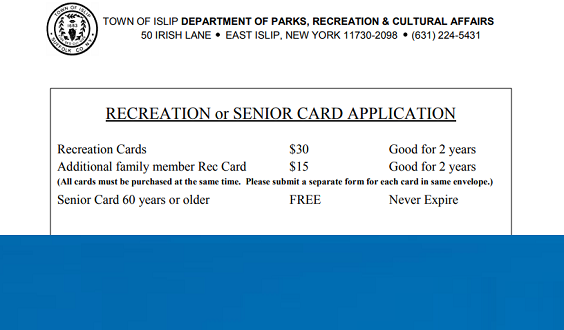 snapshot of the top portion of the recreation card document